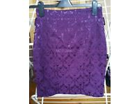 Skirt purple Beloved XS extra small 6 short work office VGC
