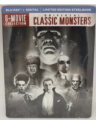 Black And White Halloween Movie Classics (Universal Classic Monsters 6 Movie Collection Blu-Ray + Digital)