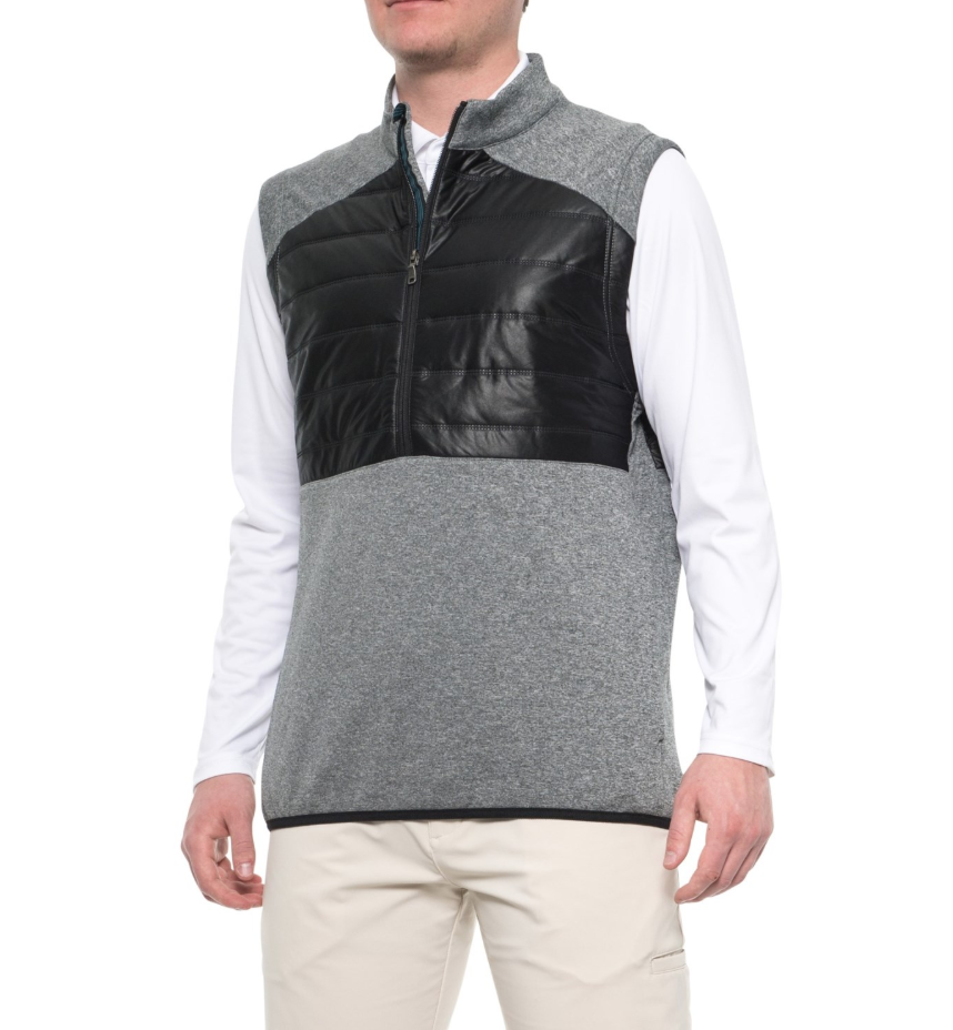 adidas ClimaHeat® Quilted Vest - Zip Neck Men's $100 Retail