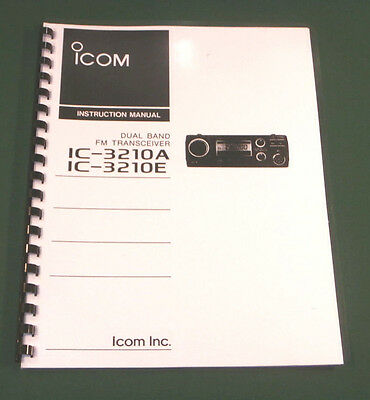 Premium Card Stock Covers /& 28 LB Paper! ICOM IC-E208 Instruction Manual