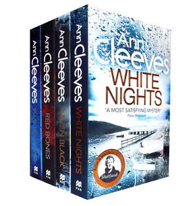Ann Cleeves Shetland Series Quartet Collection 4 Books Set, White Nights...