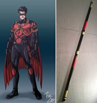 Robin Tim Drake collapsible Bo staff leather grip costume cosplay Batman - Robin Cosplay Kostüm Batman