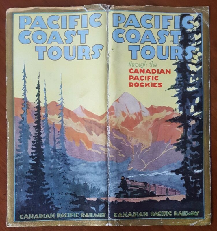 Pacific Coast Tours * Canadian Pacific Railway 1924 Brochure Map Rocky Mountains