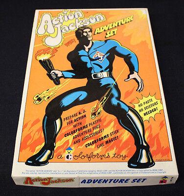 VINTAGE MEGO 1970'S COLORFORMS TOY ACTION JACKSON ADVENTURE SET BOX BOOKLET NOS