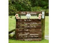 Rustic wedding decor hire