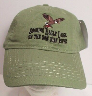 Soaring Eagle Lodge Hat Cap San Juan River Flying Eagle Usa Embroidery New