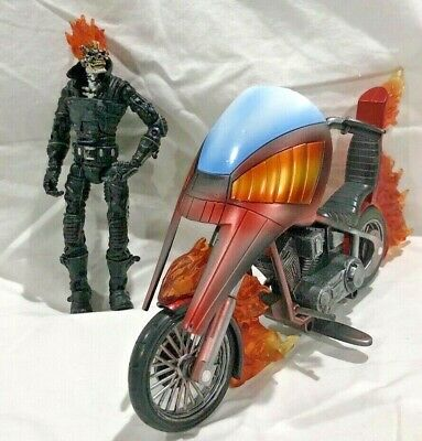 2004 Toybiz: Marvel Legends Series 7 - Classic Ghost Rider w/ Flaming Motorcycle