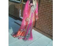 Stunning Omega (brand / designer) Pink & purple velvet Bridal dress
