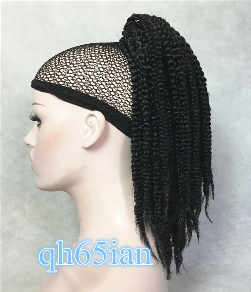 Ladies Weave Ponytail Hairstyles Black Box Braids 16 Inch In