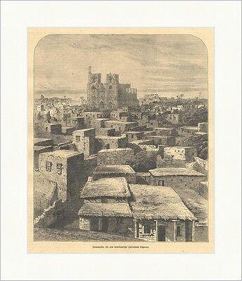 Famagusta, die alte venezianische Hafenstadt Cyperns Zypern Holzstich E 5553