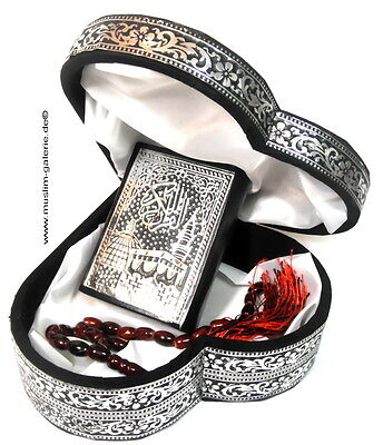 Kleine Koran Truhe Herz+Gebetskette+Quran*Islam Allah hijab Tesbih Kaftan Muslim