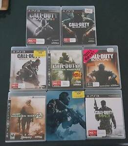 PS3 Call of Duty Games (8) - great value Old Beach Brighton Area Preview