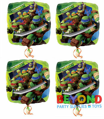 Turtles Happy Birthday Mylar Foil Balloon 18
