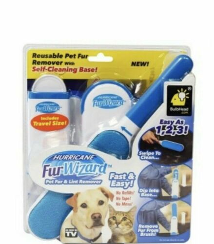 Hurricane Fur wizard Pet Fur And Lint Remover Fast And Easy No Refills !No Tape!