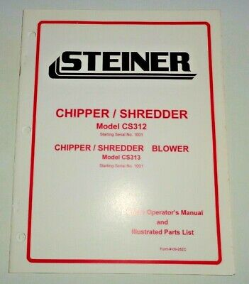 Steiner Cs312 Cs313 Chipper Shredder Blower Owners Operators And Parts Manual