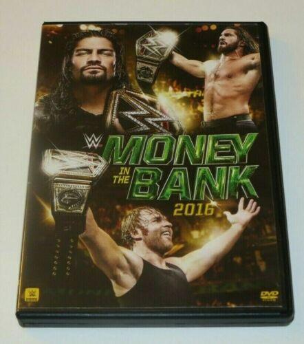 Money In The Bank 2016 DVD WWE Wrestling Seth Rollins Card Chris Jericho Ladder - $10.00