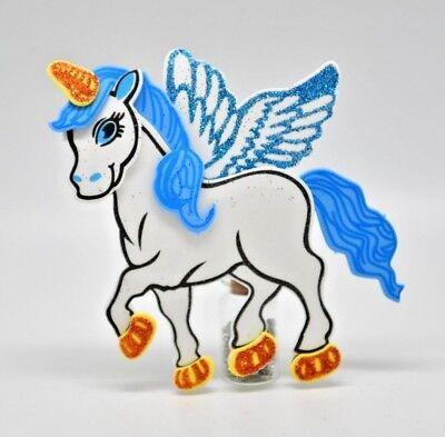 Unicorn Foam Favors Centerpiece Blue Decoration Unicornio Recuerdos 10 Pcs