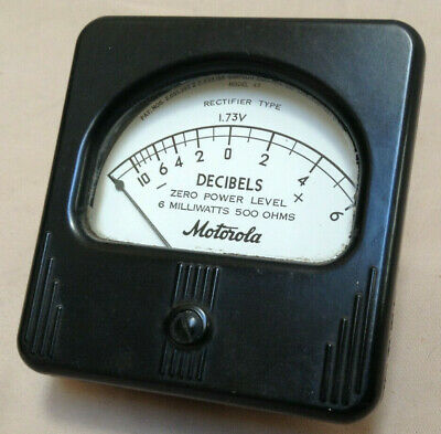 Vintage Motorola Decibel Panel Meter - Simpson Electric Co. Chicago Usa