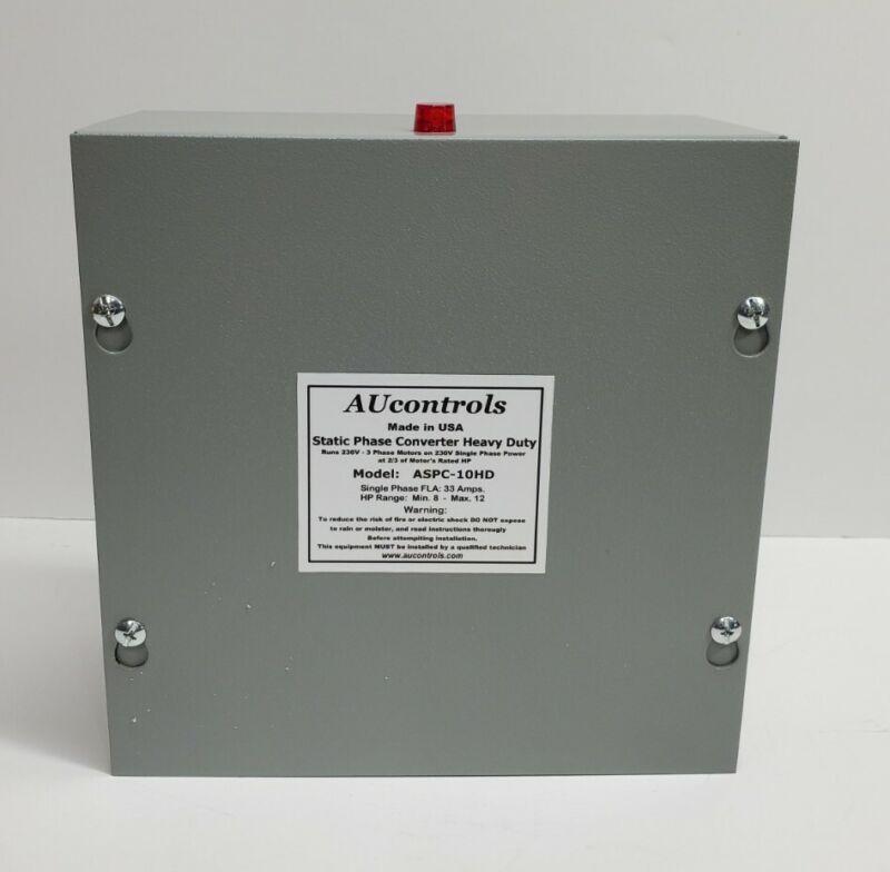 Static Phase Converter 8 to 12 HP Run 3-Phase motors w/single 230VAC, ASPC-10DH