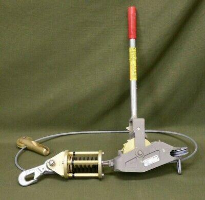 Lug-all 2.5 Ton 5000 Lb 5k Cable Hand Winch Come Along Model 3100720145