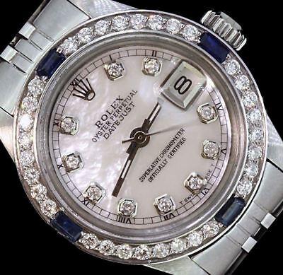 Rolex Ladies Datejust Date Jubilee Steel Diamond Dial Bezel Sapphire Watch Steel Diamond Casual Watch