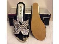 black diamante flop sandals
