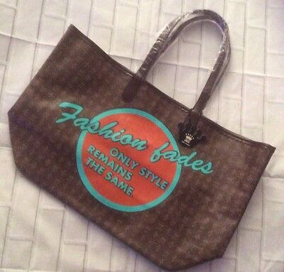 NWT Fashion Fades Only Style Remains JKC Open Canvas Large Tote Bag