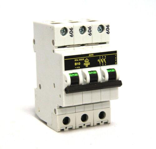 AEG Elfa E83S B10 Miniature Circuit Breaker 3 Pole 10A 415V E83S-B10