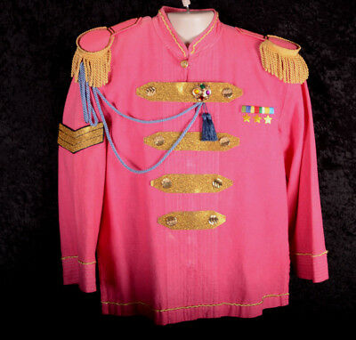 Mystic Adult Toy Soldier Nutcracker Costume Jacket PINK Epaulette Size Small S