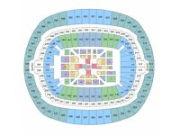 3 Tickets Anthony Joshua V Wladimir Klitschko FLOOR SEATS CENTRAL VIEW Block M Row M Wembley LONDON