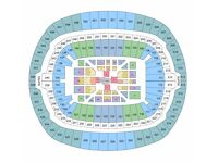 2 Tickets Anthony Joshua V Wladimir Klitschko FLOOR SEATS CENTRAL VIEW Block V Row P Wembley LONDON