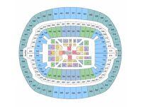 3 Tickets Anthony Joshua V Wladimir Klitschko FLOOR SEATS CENTRAL VIEW Block M Row M Wembley LONDON