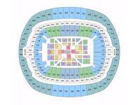 Joshua VS Klitschko Floor Seat Ringside: Floor X, Row C, Seat 6