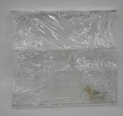 Clear Plastic Office Supply Organizer Wall Mount 8.5 X 7.5 Pen Cards Art Brush