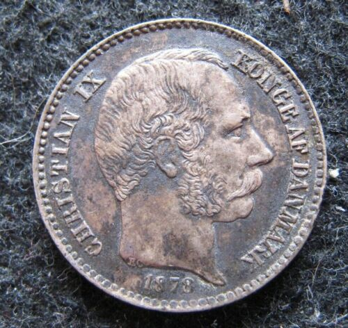 1878(h) Danish West Indies 10 Cents 80K Mintage KM#70 High Grade Heavy Tone