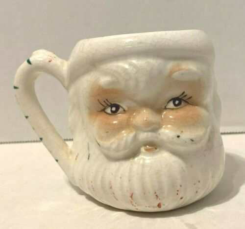 Vtg 2 Face Santa Claus Cup Japan Santa on one side, Mrs. Claus on other side