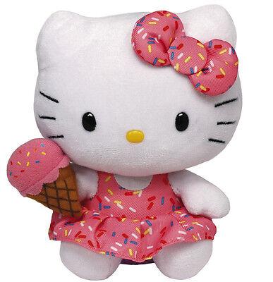 Ty Beanie Hello Kitty Eiscreme 15 cm Stofftier Plüsch Katze Kuscheltier