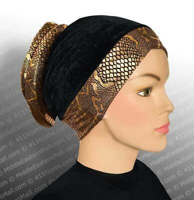 Turban hijab #1 Black Volumizer Venetian turban hijab online shop from The USA