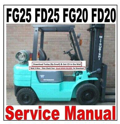Mitsubishi Forklift Fg25 Fd25 Fg20 Fd20 Service Repair Shop Manual Free Fasts