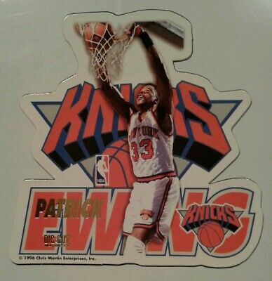 Patrick Ewing New York Knicks NBA basketball die-cut Fridge Magnet NOS 1996 ()