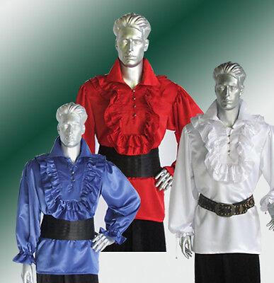 Baroque Costume Men (Renaissance Puffy Satin Men Shirt Theater)
