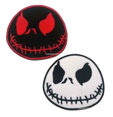 Jack Skeleton Nightmare Before Christmas Iron On Patch Sew on Embroidered
