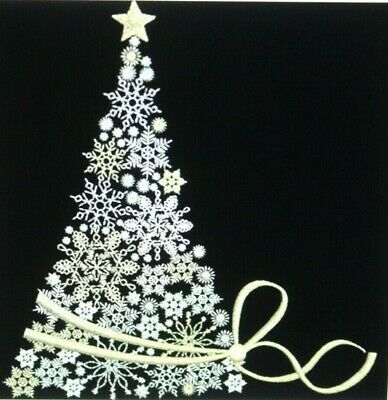 Christmas Tree EMBROIDERED QUILT BLOCK  ()
