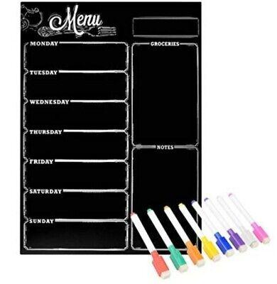 Menu Boardloftstyle Menu Chalkboard Magnetic Dry Erase Board For Fridge Weekly
