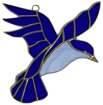 Blue Bird  -Stained Glass - Handcrafted-Sun Catcher - 8