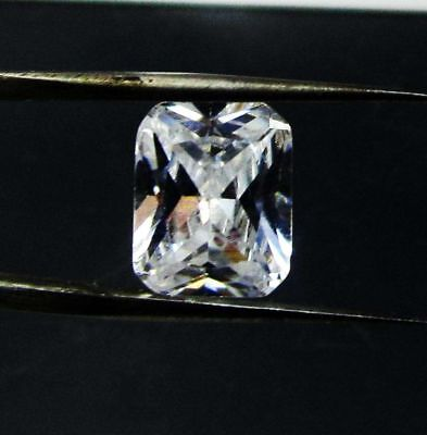 5.45cts. Natural Untreated Beautiful (10x8x4mm) Princess Cut White Zircon