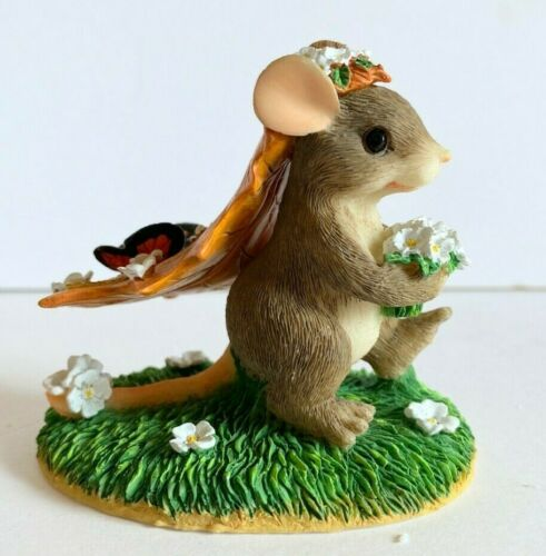 Charming Tails Here Comes The Bride Mouse Flowers Fitz and Floyd Resin Figurine