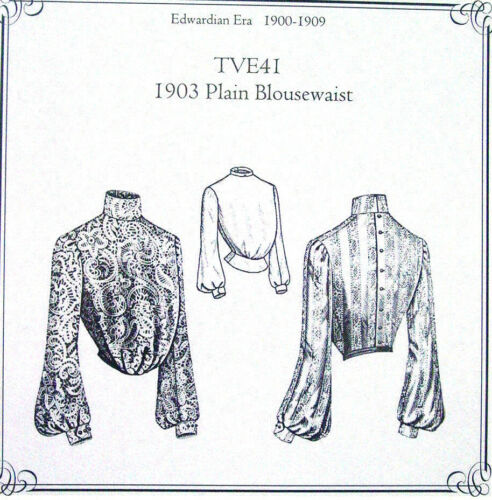 TVE41 Truly Victorian Edwardian Sewing Pattern ladies 1903 blouse uncut new