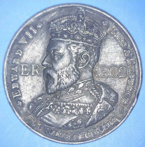 1902 EDWARD VII CORONATION CHRONOLOGY COMMEMORATIVE - GRAY METAL - *57747143