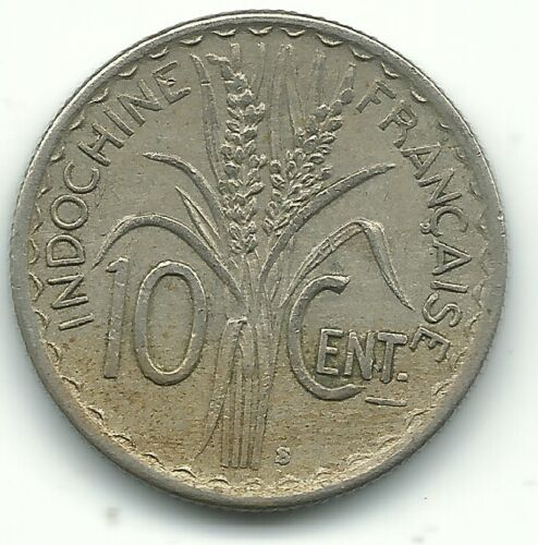 HIGH GRADE XF 1941 S VIETNAM FRENCH INDOCHINA 10 CENTS COINS-AGT623